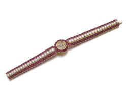 16. 女士紅寶石配鑽石手錶, 格拉芙(graff)