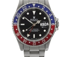 2. rolex | a stainless steel automatic dual time zone centre seconds wristwatch with date and bracelet ref 16700 casen27856 gmt-master circa 1991