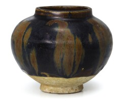303. a cizhou russet-splashed black-glazed jar northern song dynasty  
