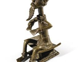 235. poids en alliage de bronze, baulé, côte d'ivoire  
