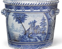 7. a nevers faïence blue and white large jardinière second half 18th century