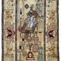 13. a kirman pictorial rug, southeast persia