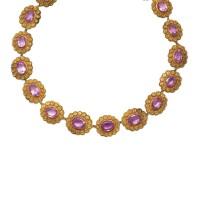 27. amethyst necklace, circa 1830