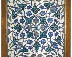 250. a damascus pottery tile, syria, circa 17th century