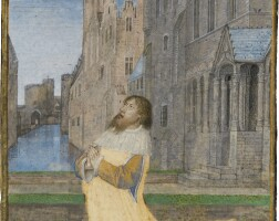10. king david in penitence, full-page miniature by the master of the houghton miniatures [ghent, c.1480]