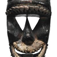 17. dan mask, ivory coast or liberia