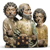 32. southern german or upper rhine,first quarter 16th centuryrelief with saint peter, saint johnand probablysaint james |