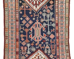 6. a qashqa'i rug, southwest persia
