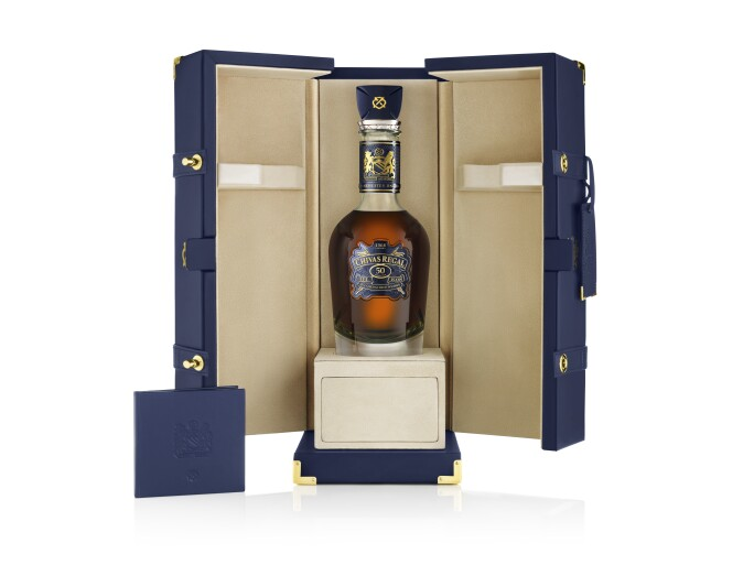 Chivas Regal The Icon, 50th Anniversary Limited Edition, Blended Scotch Whisky, Aged 50 Years.