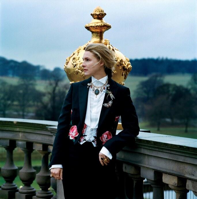 Lady Burlington wearing the Devonshire Parure