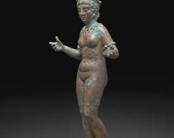 16. a roman bronze figure of aphrodite, syria, circa 2nd century a.d. | a roman bronze figure of aphrodite, syria