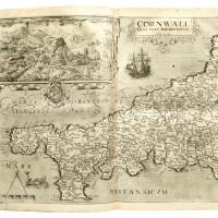27. camden. britannia, 1607, folio, contemporary vellum