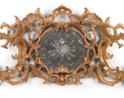 265. a george ii carved giltwood mirror cresting, mid-18th century