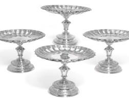 143. a set of four victorian silver dessert stands, r. & s. garrard & co., london, 1854 |