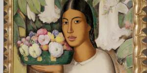 Alfredo Ramos Martínez - Mujer con flores