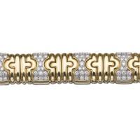 7. gold and diamond bracelet, 'parentesi', bulgari