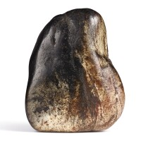 3041. a rare inscribed black and grey jade boulder ming dynasty  