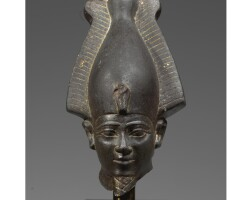 6. an egyptian basalt head of osiris, 26th dynasty, period of psamtik i, 664-610 b.c.