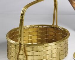 1225G. a gilt-metal basket first half 20th century