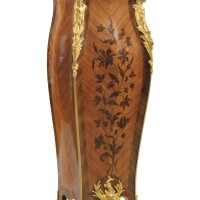 25. françois linke (1855 - 1946)a french gilt-bronze mounted kingwood and tulipwood marquetry gaine, paris, circa 1890  