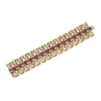 28. 黃金鑲鑽石配紅寶石手鏈, john rubel