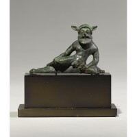 11. an etruscan bronze figure of pan, circa early 5th century b.c.