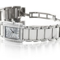 37. patek philippe   twenty~4, reference 4908/310 a white gold and diamond-set wristwatch with bracelet, made in 2005