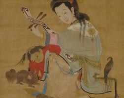 1009. 陳汝言(款) | 侍女琵琶