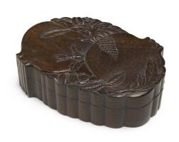 248. 清十八/十九世紀 紅木多子多福蓋盒 |