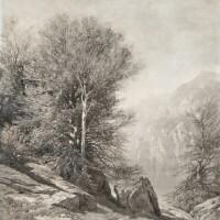 1. alexandre calame | groupe d'arbres au lac des quatre-cantons