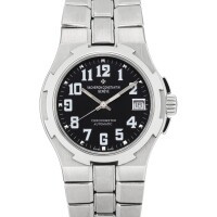 8. vacheron constantin | overseas, reference 42042/423aa stainless steel bracelet watch with date,circa 2004