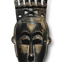 32. baule portrait mask of moya yanso (ca. 1890-1973), by owie kimou (d. 1948)