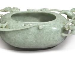 1547. a pale green jadeite washer 20th century  