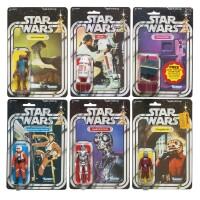 25. six star wars '21-back' action figures, 1979
