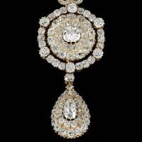 47. diamond pendant/brooch, circa 1869