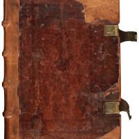 61. vincentius ferrerius, sermones de tempore et de sanctis, cologne, 1487, contemporary german stamped calf