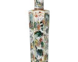 51. a large famille verte vase 18th /19th century