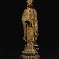 309. a large gilt-lacquer bronze figure of avalokiteshvara and child ming dynasty, 16th / 17th century |