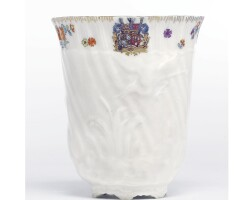 6. a meissen armorial beaker from the swan service circa 1737-40
