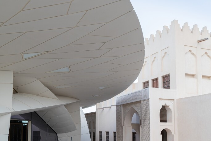 Roof Detail of National Museum of Qatar.