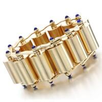 58. lapis lazuli bracelet, cartier, 1940s