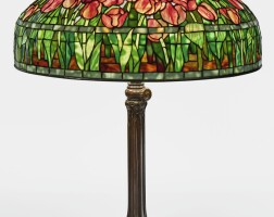 "338. tiffany studios | ""tulip"" table lamp"