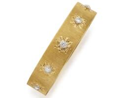 548. gold and diamond bangle-bracelet, buccellati