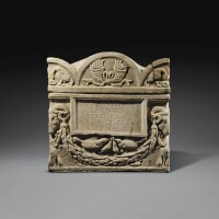 38. a roman marble cinerary urn and lid, flavian, circa a.d. 69-96 | a roman marble cinerary urn and lid