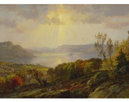 42. jasper francis cropsey   on the hudson near west point
