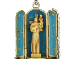 14. enamel and diamond pendant, jean dampt, retailed by cartier, early 20th century