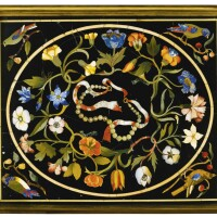 34. an italian pietre dure rectangular plaque from the florentine grand ducal workshops, 17th century