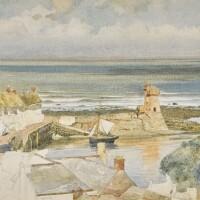 1. sir edward john poynter, bt., p.r.a., r.w.s. | lynmouth harbour, devon