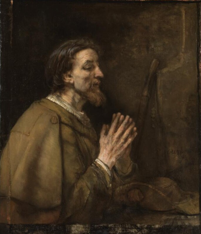 Painting of Saint James in prayer