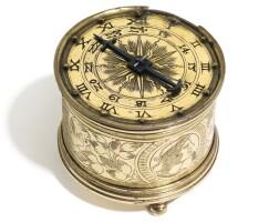 1. 德國製 | 文藝復興時期銅鎏金座鐘,年份約1550